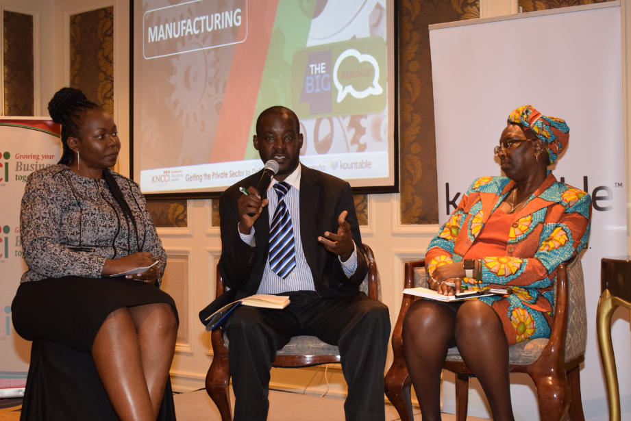 KENYA NATIONAL CHAMBER OF COMMERCE & INDUSTRY, COUNTABLE HOST BIG FOUR DIALOGUE ON MANUFACTURING