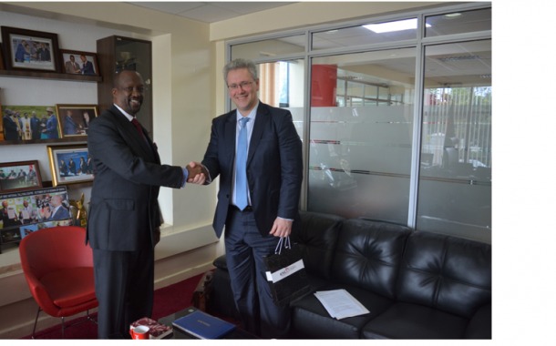Ukraine Ambassador pays a Courtesy Call to KNCCI offices
